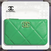 CHANEL Casual Style Lambskin Leather Party Style Elegant Style Logo