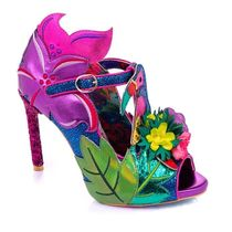 Irregular Choice Tropical Patterns Open Toe Casual Style Pin Heels