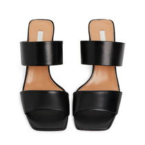 ARKET Casual Style Plain Leather Block Heels Party Style