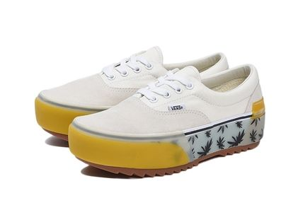Tropical Patterns Platform Casual Style Suede