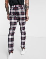 ASOS Printed Pants Tartan Cropped Pants