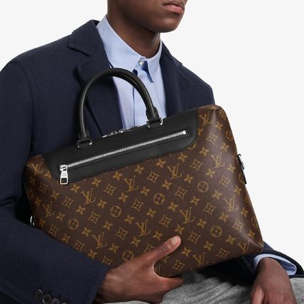 Louis Vuitton MONOGRAM MACASSAR Monogram Canvas A4 2WAY Business & Briefcases