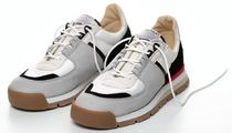 SPALWART Plain Toe Rubber Sole Lace-up Casual Style Unisex Leather