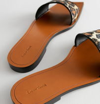 & Other Stories Leopard Patterns Square Toe Casual Style Leather Party Style
