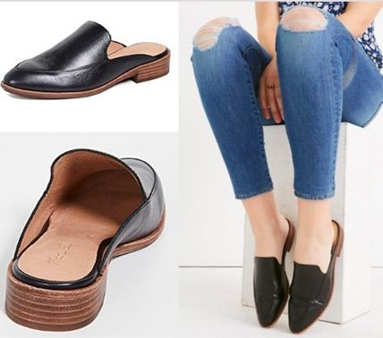 Rubber Sole Casual Style Plain Leather Elegant Style