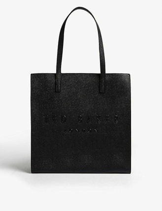 Casual Style Unisex Leather Totes