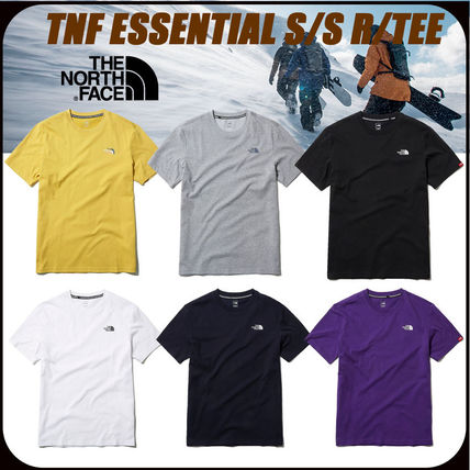 THE NORTH FACE More T-Shirts U-Neck Short Sleeves Logo T-Shirts