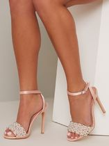 Chi Chi London Open Toe Casual Style Plain Pin Heels Party Style