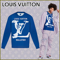 Louis Vuitton Crew Neck Street Style Long Sleeves Plain