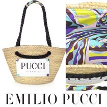 Emilio Pucci Tropical Patterns Unisex Street Style Vanity Bags Bridal