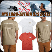 THE NORTH FACE U-Neck Cotton Short Sleeves Logo Outdoor T-Shirts