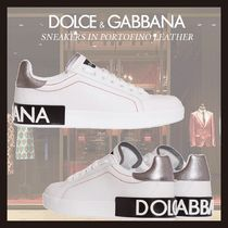 Dolce & Gabbana Casual Style Street Style Plain Logo Low-Top Sneakers