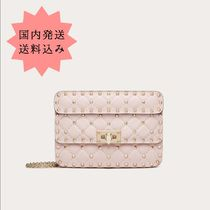 VALENTINO Casual Style Leather Party Style Office Style Elegant Style