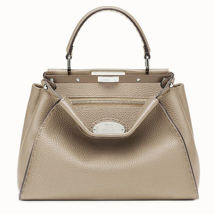 FENDI SELLERIA Casual Style 2WAY Plain Leather Party Style Office Style