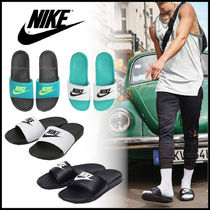 Nike BENASSI Unisex Street Style Shower Shoes Logo Shower Sandals