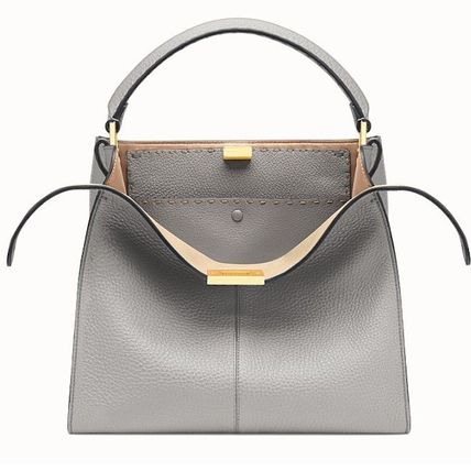 FENDI SELLERIA Casual Style Calfskin 2WAY Plain Party Style Office Style