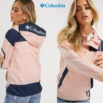 Columbia Casual Style Street Style Bi-color Plain Logo Jackets