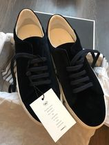 Anya Hindmarch Round Toe Rubber Sole Casual Style Velvet Street Style Plain