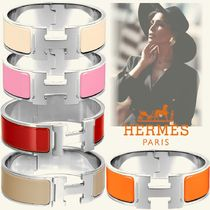 HERMES Bangles Casual Style Unisex Initial Street Style Party Style