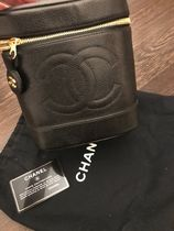 CHANEL TIMELESS CLASSICS Vanity Bags Plain Leather Party Style Logo Bags