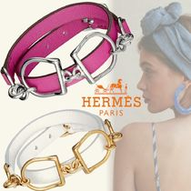 HERMES Bangles Casual Style Unisex Studded Street Style Party Style
