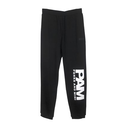 Street Style Plain Cotton Logo Joggers & Sweatpants