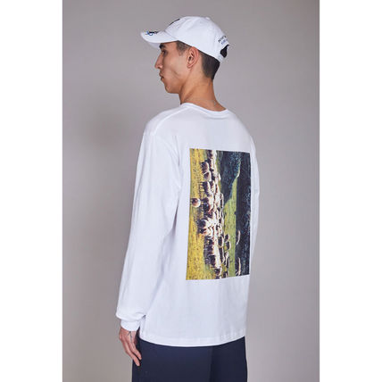 PAM Long Sleeve Crew Neck Street Style Long Sleeves Cotton 3