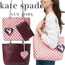 kate spade new york Dots Casual Style 2WAY Leather Office Style Elegant Style