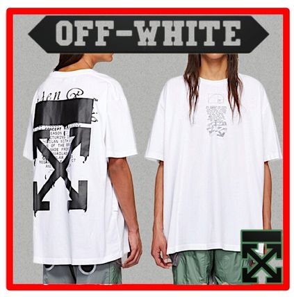 Off-White More T-Shirts Street Style Cotton Short Sleeves Oversized