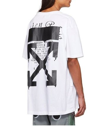 Off-White More T-Shirts Street Style Cotton Short Sleeves Oversized 4