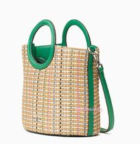 kate spade new york Blended Fabrics 2WAY Crossbody Straw Bags