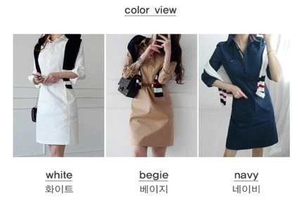 Casual Style Street Style Office Style Dresses