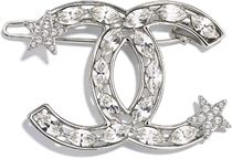 CHANEL Barettes Star Party Style Elegant Style Clips