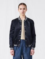 MAISON KITSUNE Nylon Street Style Plain Medium Nylon Jacket  Logo