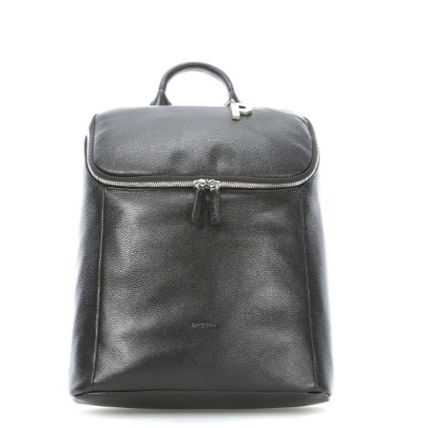 Casual Style 2WAY Plain Leather Office Style Logo Backpacks