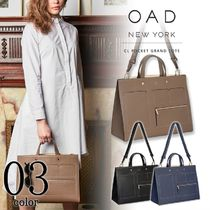 OAD NEW YORK Casual Style A4 2WAY Plain Leather Office Style