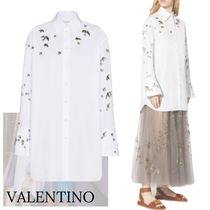 VALENTINO Casual Style Long Sleeves Other Animal Patterns Cotton
