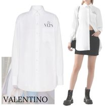 VALENTINO Casual Style Street Style Long Sleeves Plain Cotton Medium