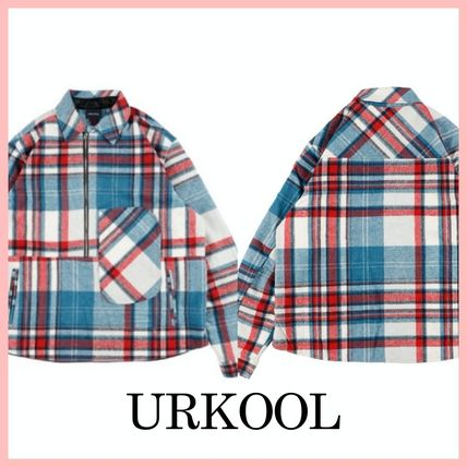 Other Plaid Patterns Street Style Oversized Jackets