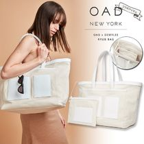 OAD NEW YORK Casual Style Canvas Collaboration A4 Plain Leather Logo
