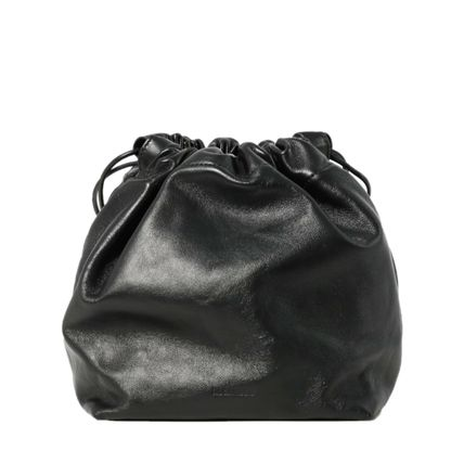 Casual Style Lambskin 2WAY Plain Leather Party Style