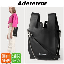 ADERERROR Casual Style Blended Fabrics Street Style 2WAY Chain Leather