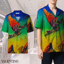 VALENTINO Cotton Short Sleeves Front Button Shirts