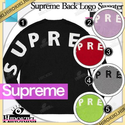 Supreme Sweaters Street Style Logo Sweaters
