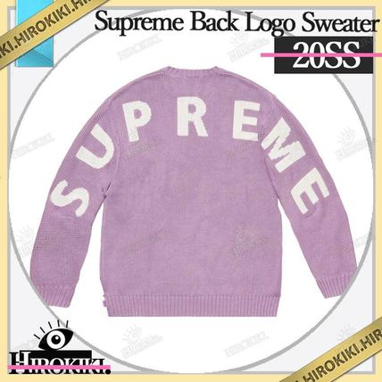 Supreme Sweaters Street Style Logo Sweaters 4