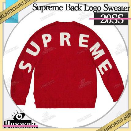 Supreme Sweaters Street Style Logo Sweaters 5