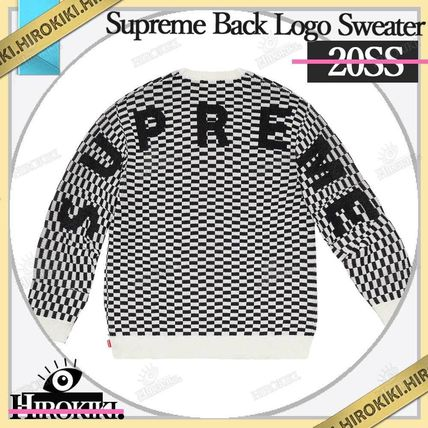 Supreme Sweaters Street Style Logo Sweaters 6