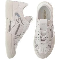 Mario Valentino Lace-up Casual Style Leather Logo Low-Top Sneakers