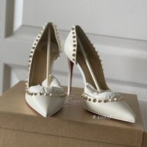 Christian Louboutin Irishell Studded Plain Leather Pin Heels Pointed Toe Pumps & Mules