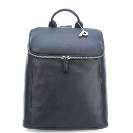 Casual Style Plain Office Style Logo Backpacks